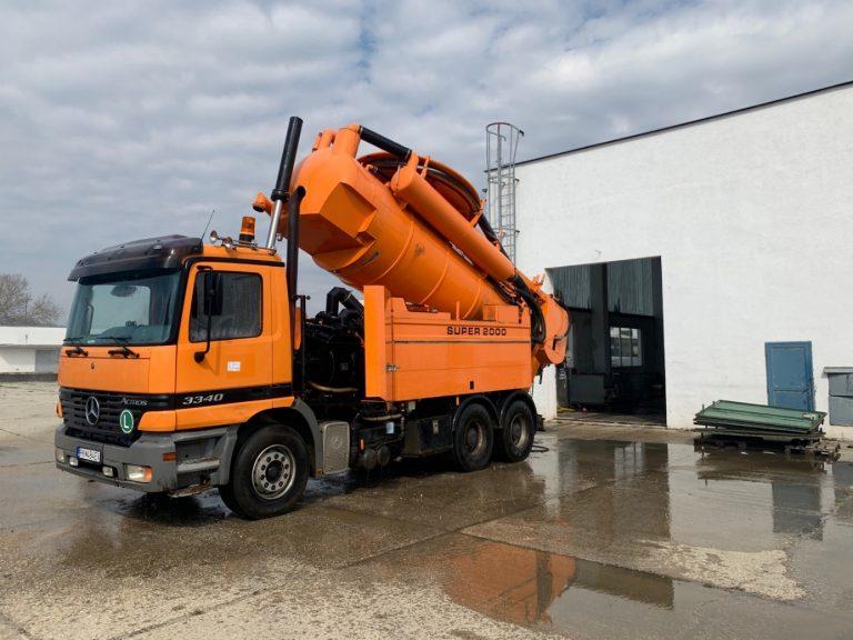 Servisné vozidlo - Servis a výmena kanalizačných prečerpávačiek